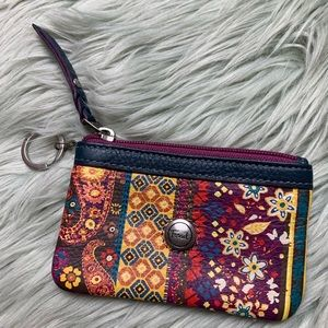 Fossil Leather Pattern Coin Purse/Wallet